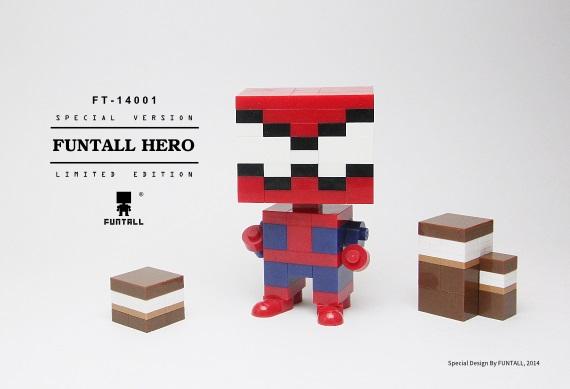 方頭英雄是 FUNTALL CUBE 方頭積木的積木公仔產品系列之一員。