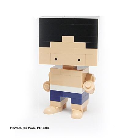 名稱:方頭型男, 型號:FT-14002, 系列:方頭人積木公仔. Name:Hot Pants, Model:FT-14002, Funtall Amis series.