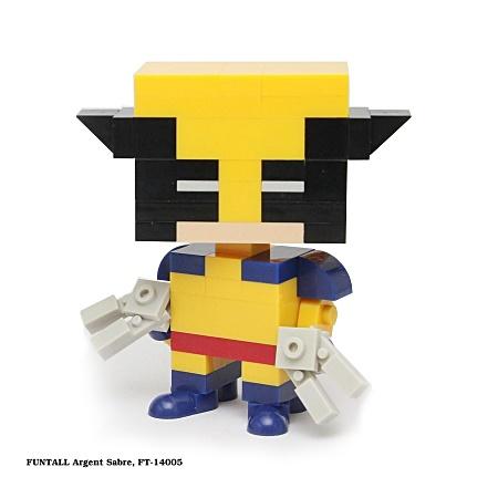 名稱:銀色之刃, 型號:FT-14005, 系列:方頭人積木公仔. Name:Argent Sabre, Model:FT-14005, Funtall Amis series.