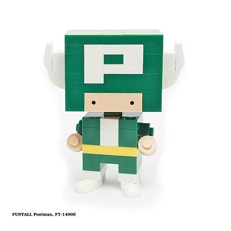 名稱:宇宙郵差, 型號:FT-14006, 系列:方頭人積木公仔. Name:Postman, Model:FT-14006, Funtall Amis series.