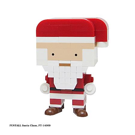 名稱:聖誕老公公, 型號:FT-14009, 系列:方頭人積木公仔. Name:Santa Claus, Model:FT-14009, Funtall Amis series.