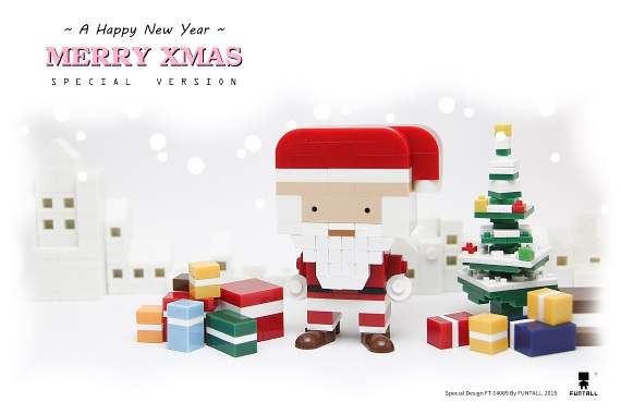 方頭聖誕老公公在歡樂的耶誕節祝福您! Funtall Santa Claus wish you all Merry Xmas & Happy New Year.