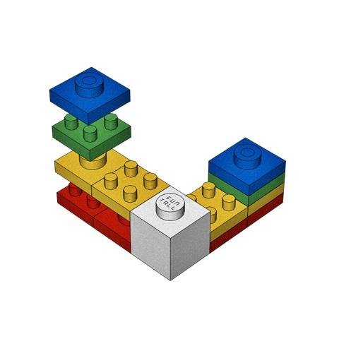 本圖中可以看到方頭積木採用超薄的1/4結構設計,是重大突破! 方頭積木是台灣設計台灣製造的創新積木喔! Thinner structure from Funtall Cube provide better performance and more funny when people playing.
