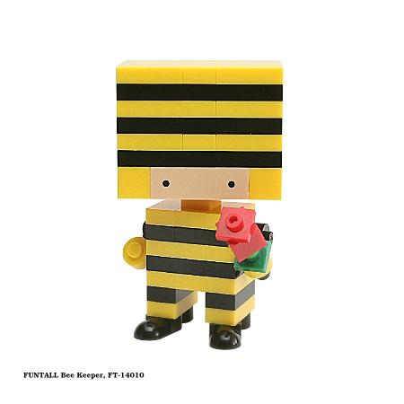 名稱:蜜蜂王子, 型號:FT-14010, 系列:方頭人積木公仔. Name:Bee Keeper, Model:FT-14010, Funtall Amis series.