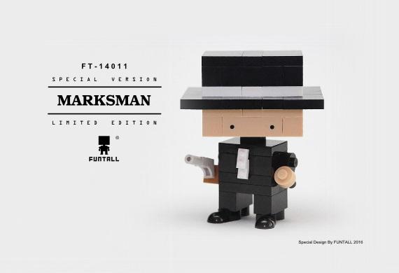 Marksman 方頭獨家大小積木特別設計款,展現神槍手的帥氣