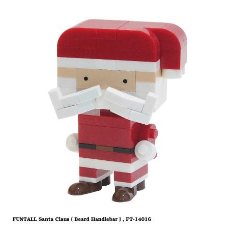 俏皮的八鬍子,穿著大紅色外衣的方頭聖誕老公公,是最棒的禮物工匠